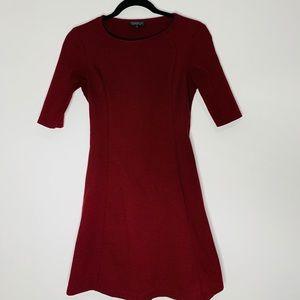 Burgundy Topshop dress